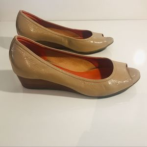 Cole Haan Air Nude Patent Leather open Toe Wedge11